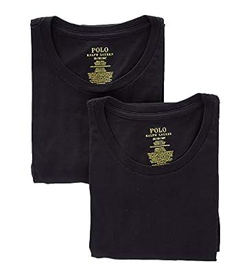 Polo Ralph Lauren Big & Tall Crew Neck T-Shirt 2-Pack, 2X, Black from Polo Ralph Lauren