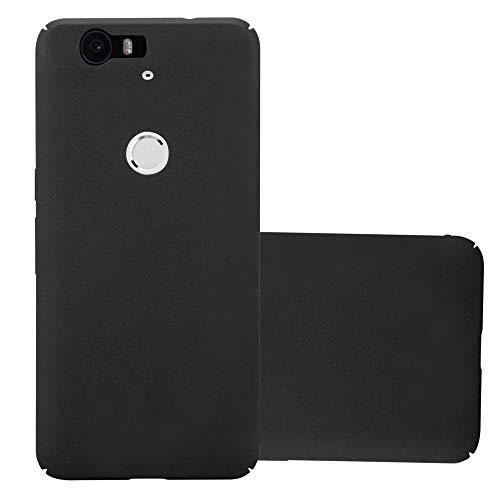 Cadorabo Hülle für Huawei Nexus 6P - Hülle in Frosty SCHWARZ – Hardcase Handyhülle im matten Frosty Design - Schutzhülle Bumper Back Case Cover