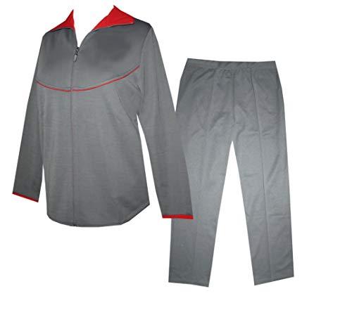 Schneider Sportswear Stendal Senioren Freizeitanzug Jersey Damen Hausanzug (42, grau)