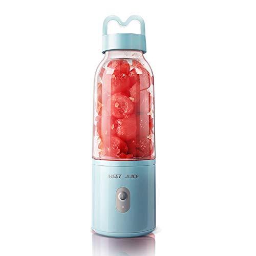 Licuadora portátil Carga USB Exprimidor Mini licuadora personal, Mini mezclador con motor potente Exprimidor Taza de jugo de fruta Para batido/batido/fruta