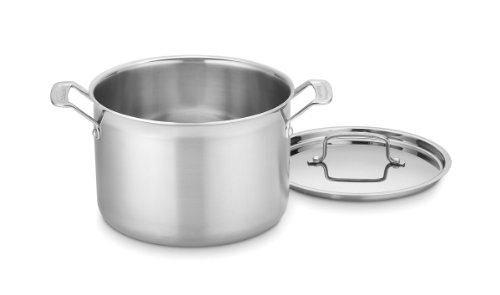 Cuisinart MCP66-24N MultiClad Pro Stainless 8-Quart Stockpot with Cover