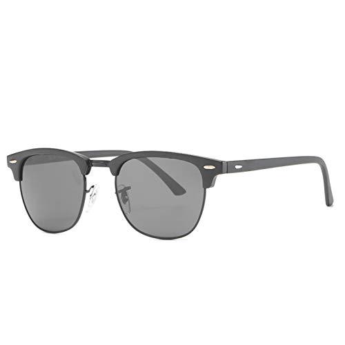 HDSJJD Hombres Y Mujeres Moda Gafas De Sol Polarizadas Retro Medio Marco Conducción Clásica Al Aire Libre UV400,D
