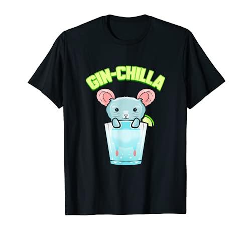 Gin Lover Regalo Cctel Fiesta Chinchilla Tonic Gin Chilla Camiseta