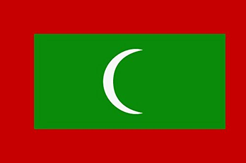 U24 Fahne Flagge Malediven Bootsflagge Premiumqualität 20 x 30 cm