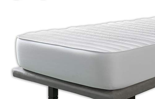 Velfont Anti Dustmite Quilted Mattress Protector, Reversible with Silky Soft, Super King Bed Size (180x190/200cm)