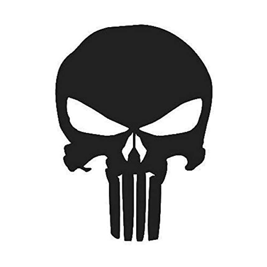 Punisher Skull Decal (17 Sizes and 20 Colors) 001