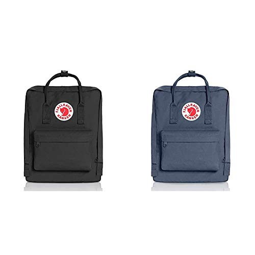 Fjällräven Kånken 23510-550 Unisex Waterproof Outdoor Hiking Backpack 38 x 27 x 13 cm, 16 Liter Black & Fjallraven Unisex Backpack Kanken, Graphite, 38 x 27 x 13 cm, 16 L