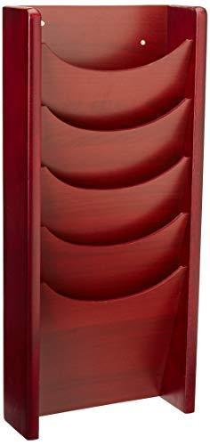Safco - Expositor de madera para revistas (5 compartimentos, 29,84 x 60,32 cm), color Mahogany