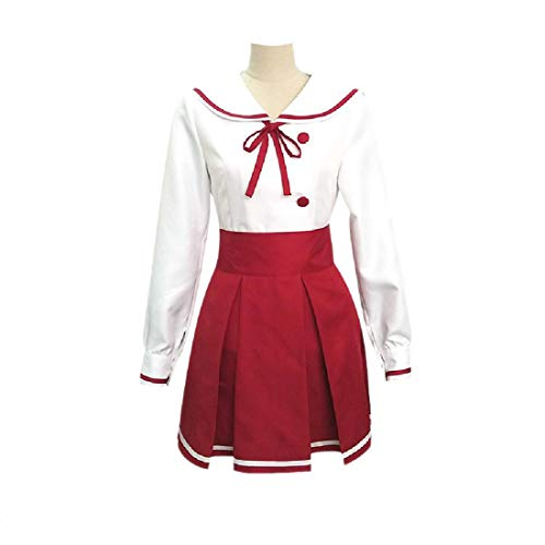 YYFS Anime Cosplay Disfraces, Juego Comics Cosplay Uniformes, Halloween, Fiestas de Carnaval, Tops Blancos y Faldas Rojas,Clothing Suit-Medium
