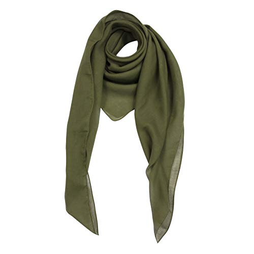 Superfreak Baumwolltuch - grün - olivgrün - quadratisches Tuch