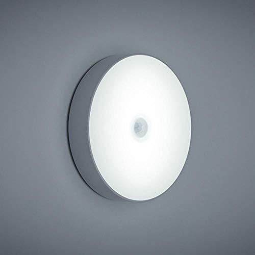 6 LED PIR bewegingssensor nachtlicht voor automatisch aan/uit-draadloze USB rechargeable warm wit/wit licht voor slaapkamer cabinet 2