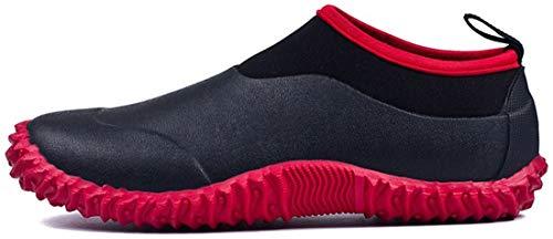 TENGTA Zapatos de jardinería Impermeables Unisex para Mujer Botas de Nieve para la Lluvia Lavado de Autos para Hombres Calzado Rojo 38