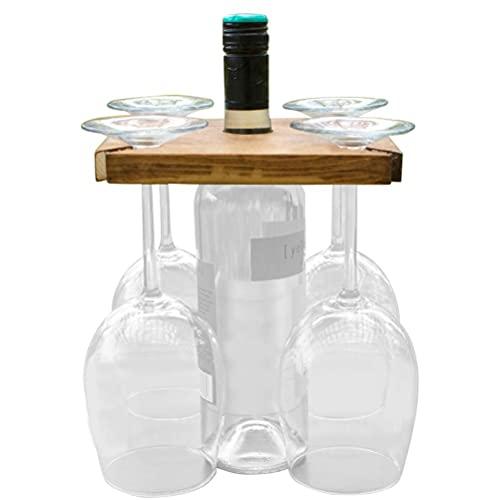 Césped al aire libre estante de la mesa de vino portátil titular de la copa de vino