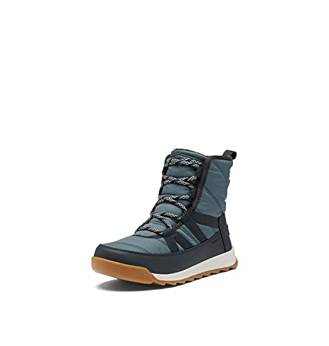 SOREL Women's Whitney Short Lace Boot — Uniform Blue, Abyss — Waterproof Nylon Winter Boots — Size 10.5