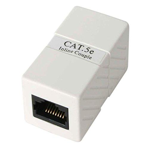 StarTech.com CAT5COUPLER - Caja de Empalme Acoplador Cable Cat5 Ethernet UTP - 2x Hembra RJ45 - Blanco