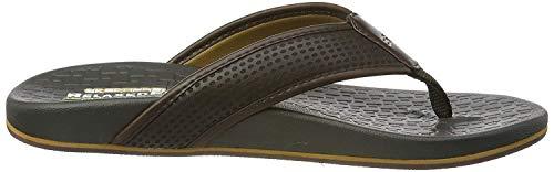 Skechers USA Men's Pelem Emiro Flat Sandal, Chocolate, 10 M US