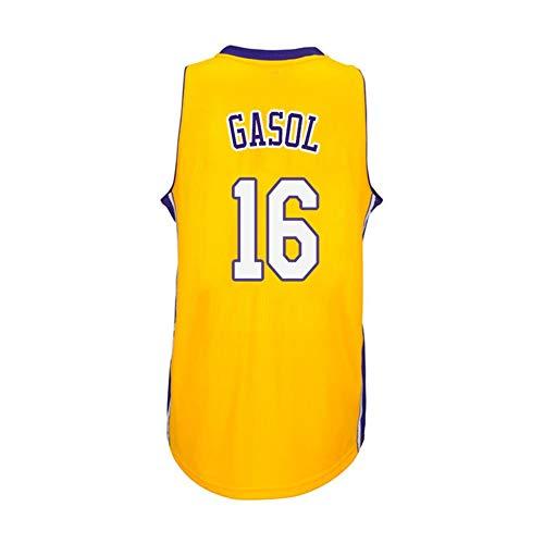 Zyf Camiseta Baloncesto PAU Gasol # 16 Jersey De Baloncesto De Los Hombres, Transpirable Resistente Al Desgaste Bordó La Camiseta Camiseta, XS-XXL (Color : B, Size : S)