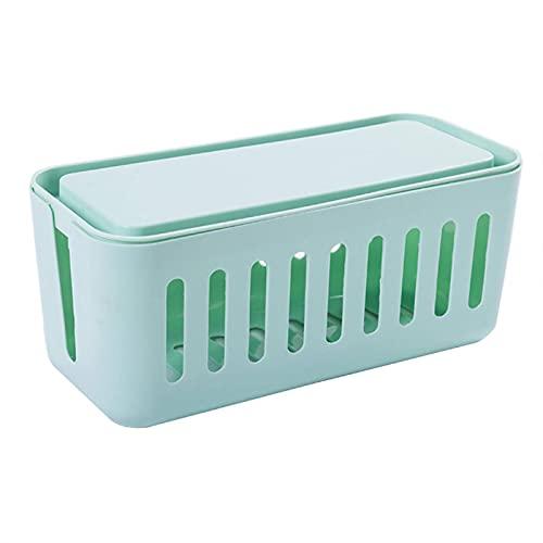 N\C Caja de Almacenamiento de Cable de alimentación Caja de Almacenamiento de Escritorio de plástico Multifuncional Organizador de Cables de artículos para el hogar