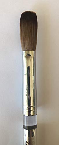Silver Handle CRIMPED 100% Kolinsky Acrylic Nail Brush (Crimped 22)