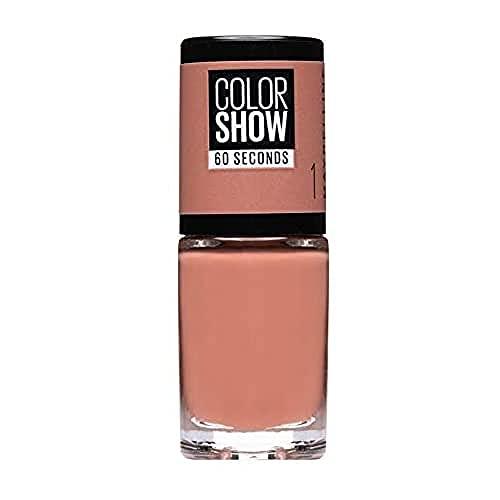 Maybelline New York - Color Show, Esmalte de Uñas Secado Rápido, Tono: 01 Go Bare
