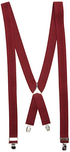 Marchio Amazon - find. Bretelle Uomo, Rosso (bordeaux), One Size, Label: One Size