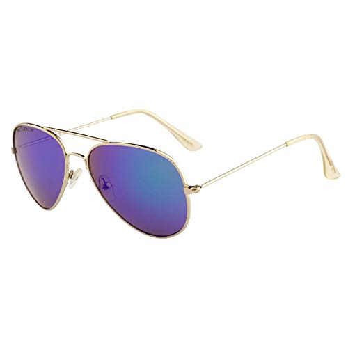 Rozior® Kids Sunglass with UV Protection Green Mirror Lens with Silver Frame, MODEL: RWUK0909M1