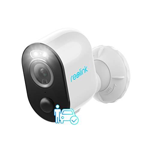 Reolink 4MP Telecamera di Sicurezza a Batteria per Esterni con Spotlight, Rilevamento di Persone e Veicoli, WiFi Dual-Band 2,4&5 GHz, Visione Notturna a Colori, Time-Lapse, Sensore PIR, Argus 3 PRO