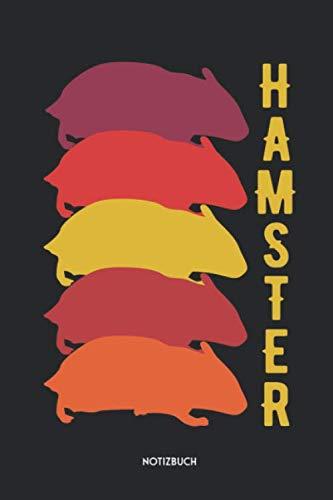 Hamster Notizbuch: Süßes Retro Büchlein   Dotted Notebook / Punkteraster   120 gepunktete Seiten   ca. A5 Format   Individuelles Journal   Journaling Geschenk für Hamsterhalter