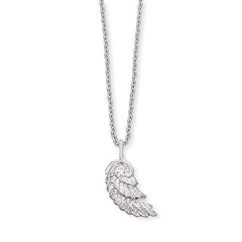 Herzengel Kette mit Flügelchen Anhänger für Mädchen 925er-Sterlingsilber rhodiniert Länge 37 cm plus 2 cm