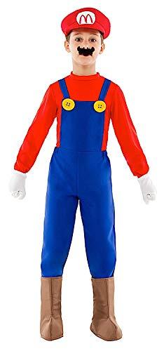 VENEZIANO Costume Carnevale da Mario Baby Vestito per Bambino Ragazzo 1-6 Anni Travestimento Halloween Cosplay Festa Party 52332 6 Anni