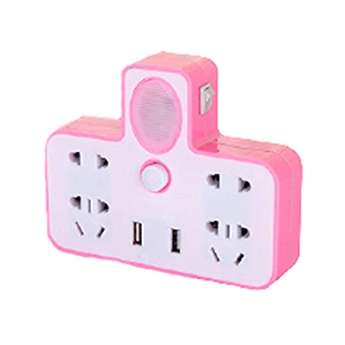 Regletas Eléctricas Zócalo poroso Elegante del hogar de la Tira del Poder de la Tira USB del Poder de la luz de la Noche del Enchufe Elegante,Pink,14 * 11