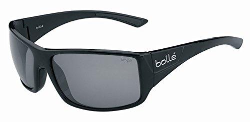 bollé Erwachsene Tigersnake Sonnenbrille, Black Shiny, Large