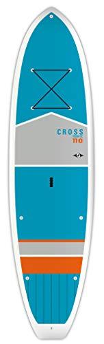 "BIC Sport TOUGH-TEC Cross SUP Stand Up Paddleboard, Blue/Grey/Orange, 11'0"""
