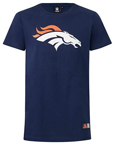Majestic NFL Denver Broncos Longline Noos Shirt Tshirt Football Navy Logo (S)