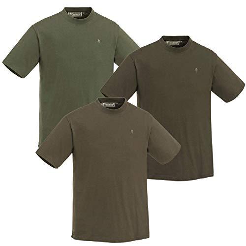 Pinewood T-Shirt 3er Pack Herren Green/Brown/Khaki Größe M 2020 Kurzarmshirt
