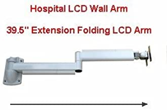 Long 39 inch Articulated LCD Monitor Wall Arm VESA Hospital Bed