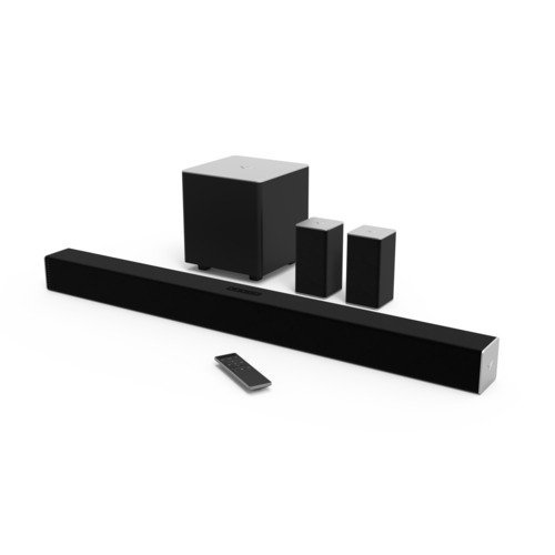 VIZIO SB3851-C0 38-Inch 5.1 Channel Sound Bar with Wireless Subwoofer and Satellite Speakers (Renewed)