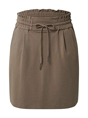 Vero Moda Damen VMEVA MR SHORT RUFFLE SKIRT COLOR Rock, Light Blue Denim, XS