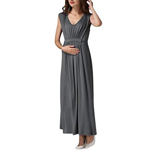 Lenfesh Damen Umstandskleid Schwangerschaft Kleid Elegant Partykleider Lange Sommerkleider Kurzarm Umstandskleid Festliche Kleider Ballkleid Schwangerschaftsmode