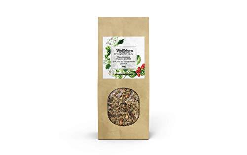 Valdemar Manufaktur Premium WEISSDORN-Tee 100g (Weißdorn-Blätter mit Blüten) - HANDVERPACKT In Deutschland