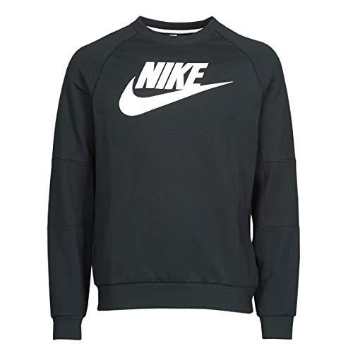 Nike - Felpa da Uomo in Pile Modern Crew, Uomo, Maglia di Tuta, CU4473, Nero/Bianco, M