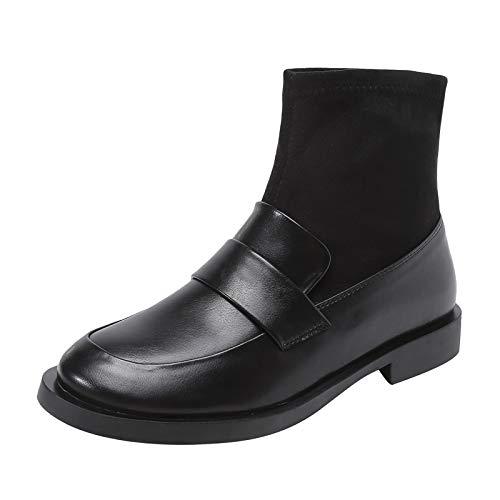 Shukun enkellaarsjes met lage hakken, elastische sokken, sokken, sokken, schoenen, schoenen met hoge hakken, dunne schoenen