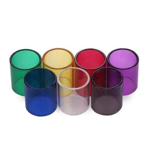 7PCS Glas-Behälter gepasst for KangerTech Obertank Mini/fit for Aspire Kleito RTA/fit for TFV4 Mini 3,5 ml/fit for K4 22mmOD (Farbe : Multi, Größe : Fit for Aspire Cleito 3.5ml)