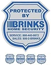 1 Home Security Yard Sign 4 Security Sticker Window Decals