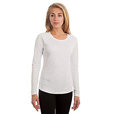 Vapor Apparel Women's UPF 50+ UV Sun Protection Long Sleeve Performance Slim Fit T-Shirt for Sports and Outdoor Lifestyle, Small, White