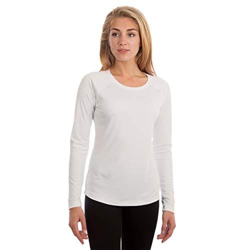 Vapor Apparel Damen Atmungsaktives UPF 50+ UV Sonnenschutz Langarm Funktions T-Shirt L Weiß