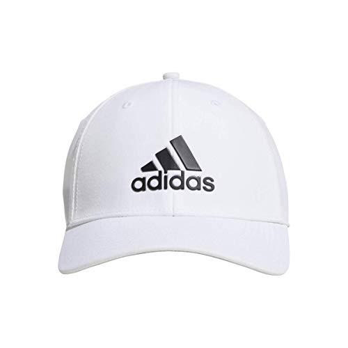 adidas Hombre Insignia de Deporte Gris Brezo Gorra de Béisbol - Blanco, One Size
