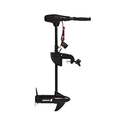 Newport Vessels NV-Series 55lb Thrust Saltwater Transom Mounted Trolling Electric Trolling Motor w/ LED Battery Indicator & 30' Shaft