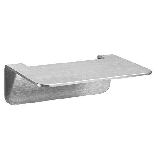 WEISSENSTEIN Repisa baño Adhesiva pequeña | Balda baño Pared | Repisa baño sin taladro | Acero Inoxidable 14 x 10 x 5 cm