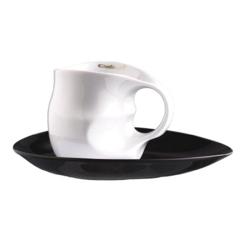 Luigi Colani ab OvO - Juego de tazas de café con plato (2 unidades)